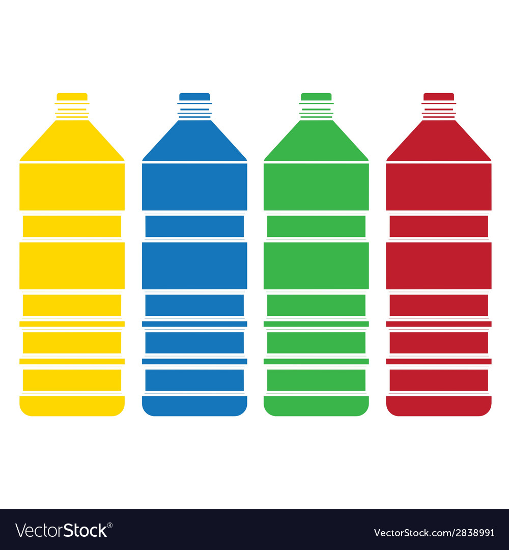 Colored bottle set vector | Price: 1 Credit (USD $1)