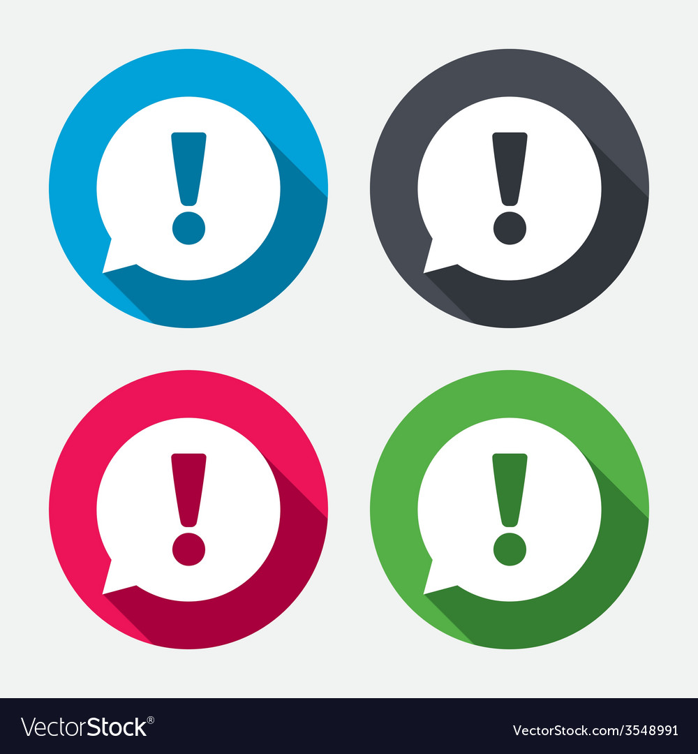 Exclamation mark sign icon attention symbol vector | Price: 1 Credit (USD $1)