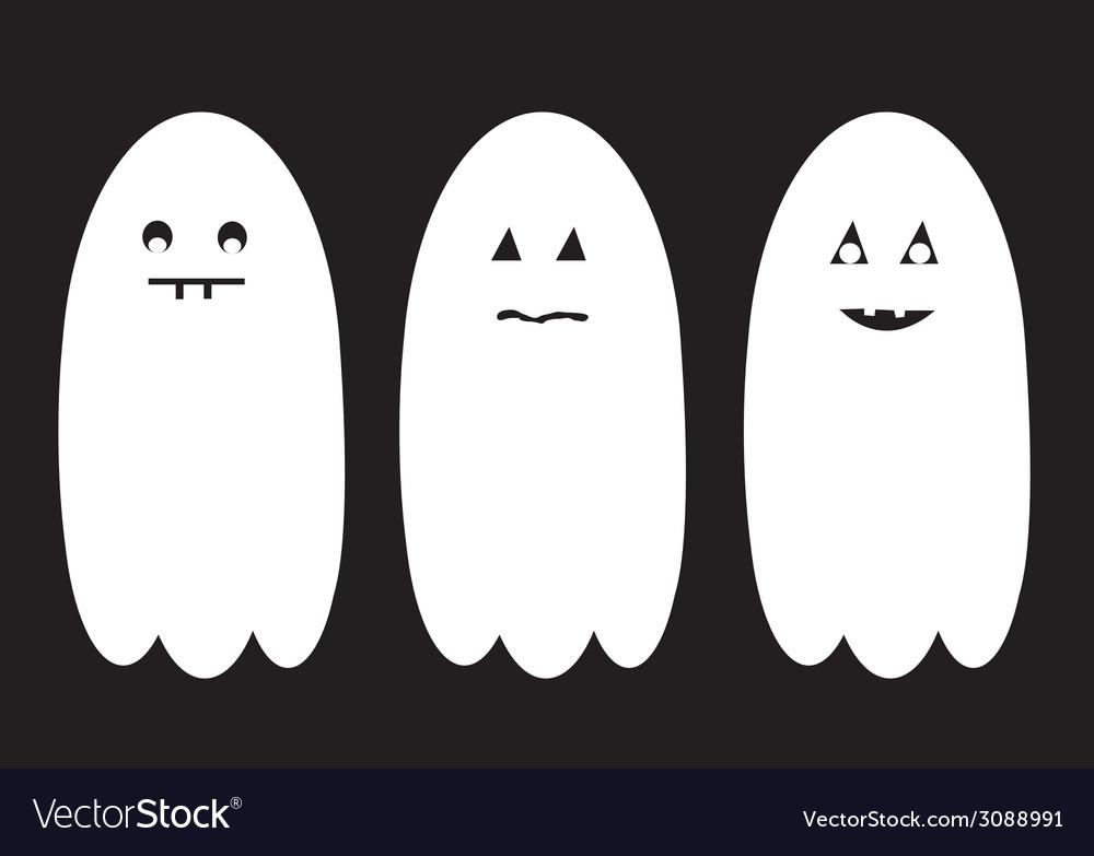 Halloween ghost set vector | Price: 1 Credit (USD $1)