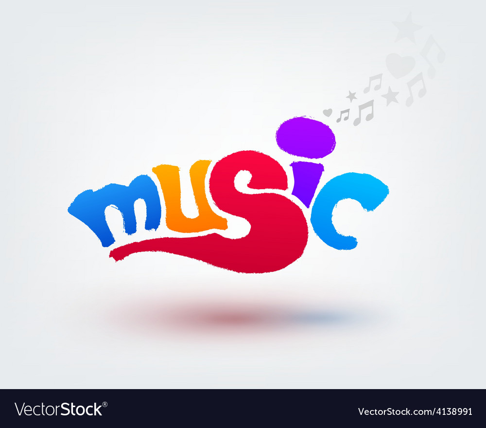 Music text design hand drawn word on white vector   Price: 1 Credit (USD $1)