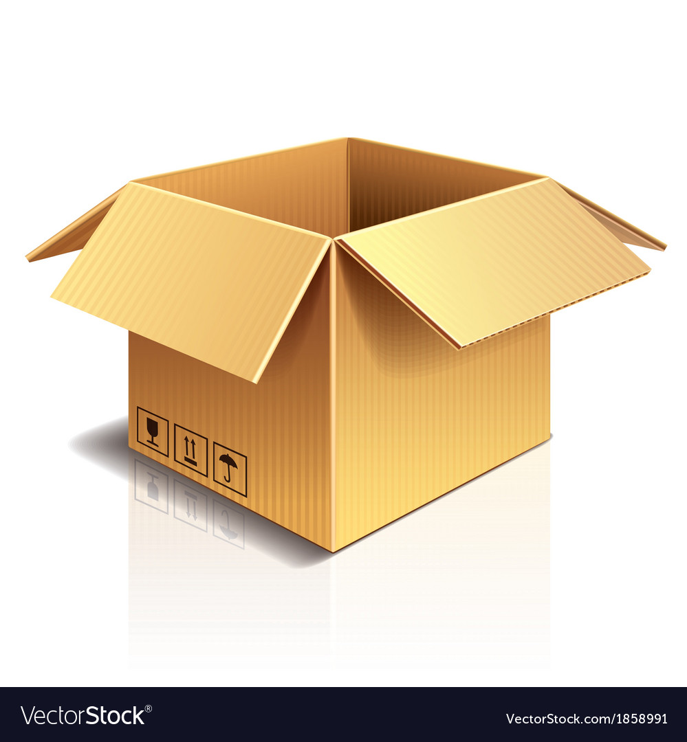 Object cardboard box vector | Price: 1 Credit (USD $1)