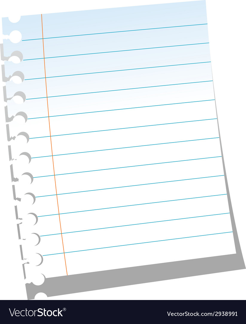 Page of notebook vector | Price: 1 Credit (USD $1)