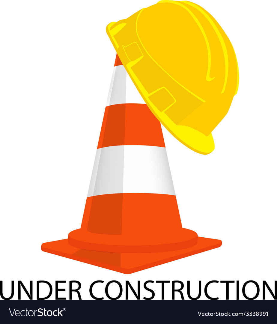 Traffic cone and building helmet vector | Price: 1 Credit (USD $1)