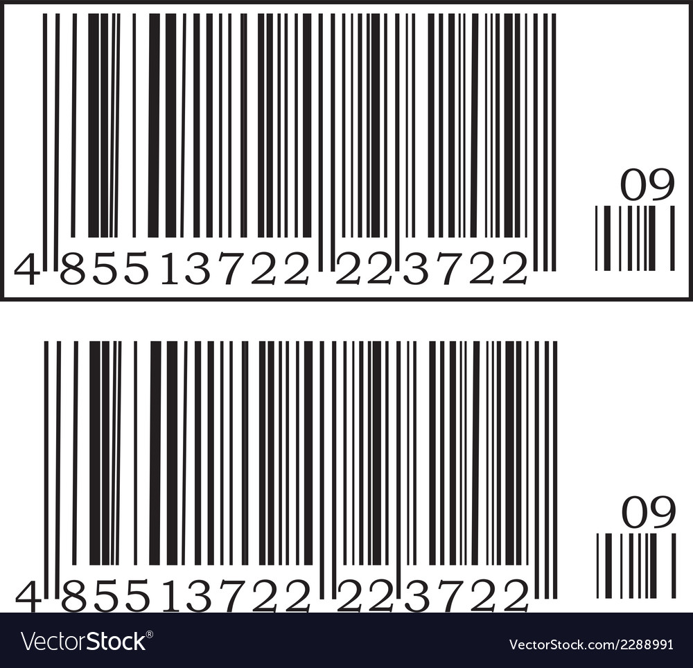 Two barcodes vector | Price: 1 Credit (USD $1)