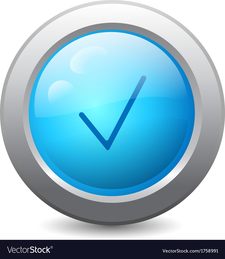 Web button with check mark vector | Price: 1 Credit (USD $1)