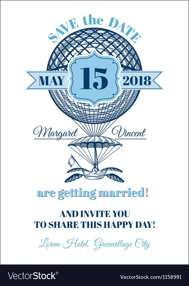 Wedding invitation card - balloon theme vector   Price: 1 Credit (USD $1)