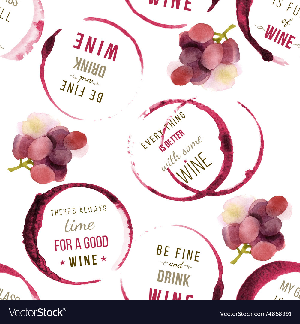 Wine type designs seamless vector