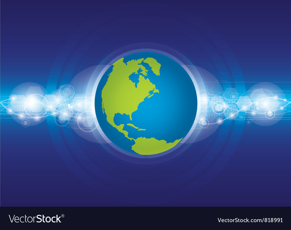 World technology concept vector | Price: 1 Credit (USD $1)