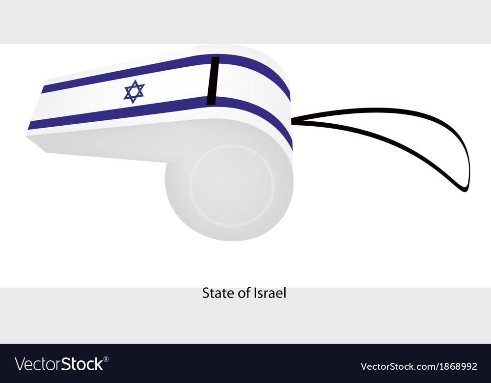 A whistle of the state of israel vector | Price: 1 Credit (USD $1)