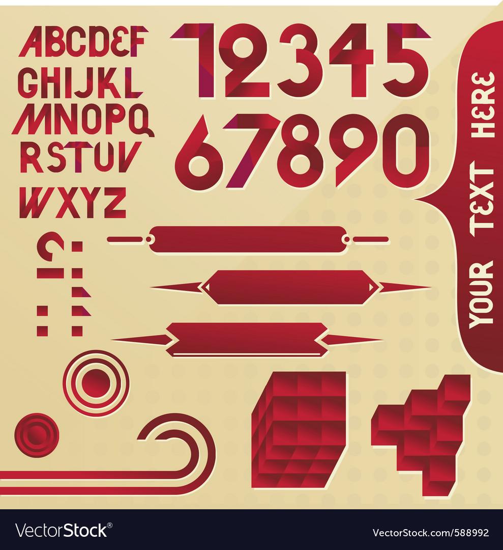 Alphabet elements vector | Price: 1 Credit (USD $1)