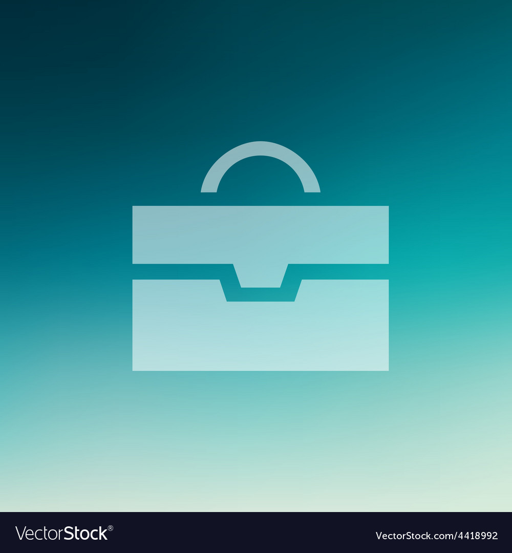 Briefcase in flat style icon vector | Price: 1 Credit (USD $1)