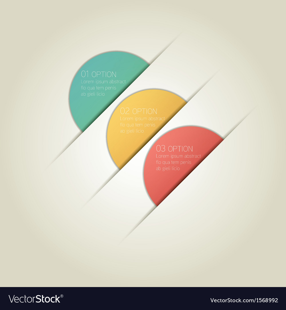 Circle infographic background with sample text vector | Price: 1 Credit (USD $1)