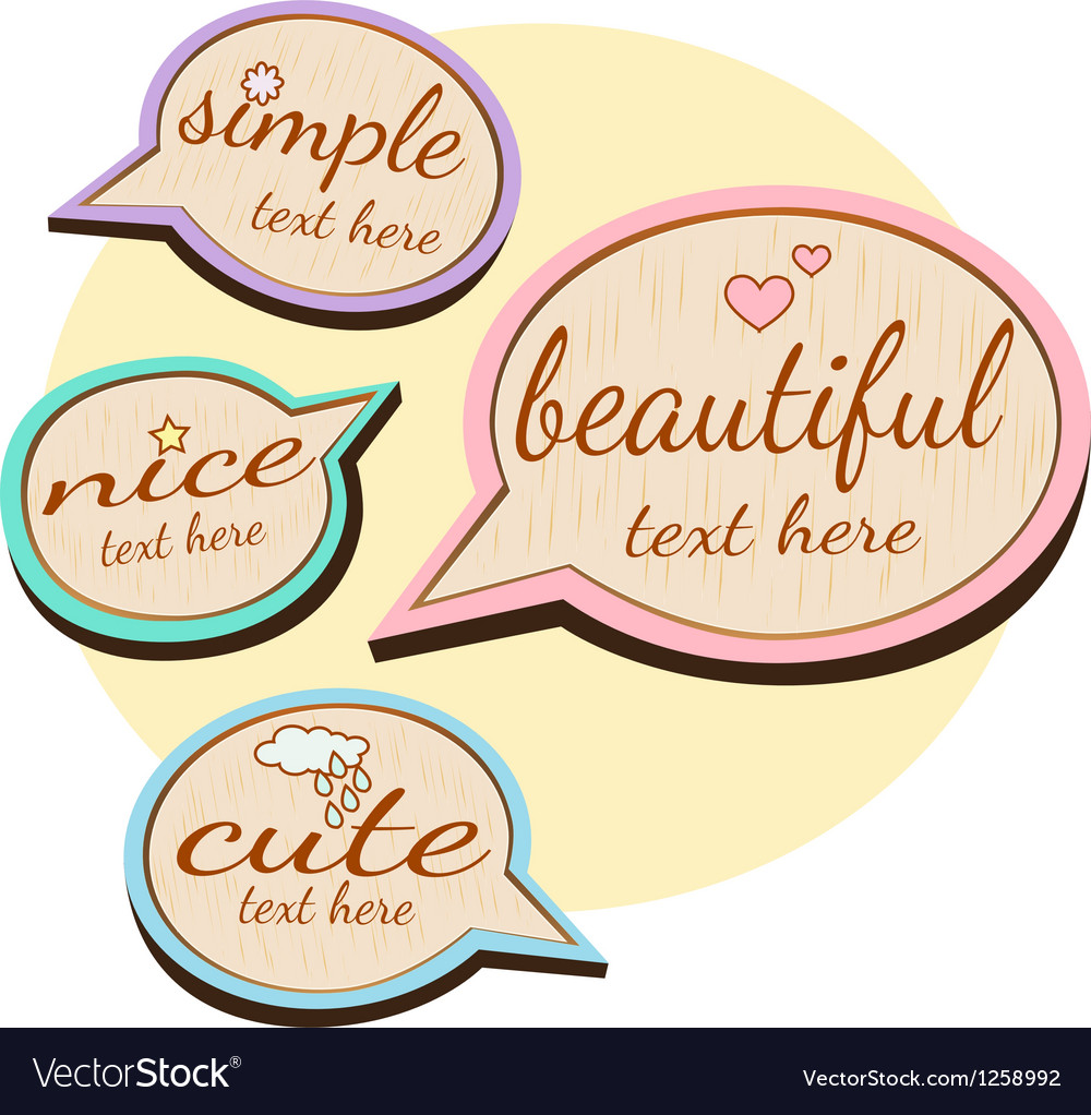 Cute wood quotes vector