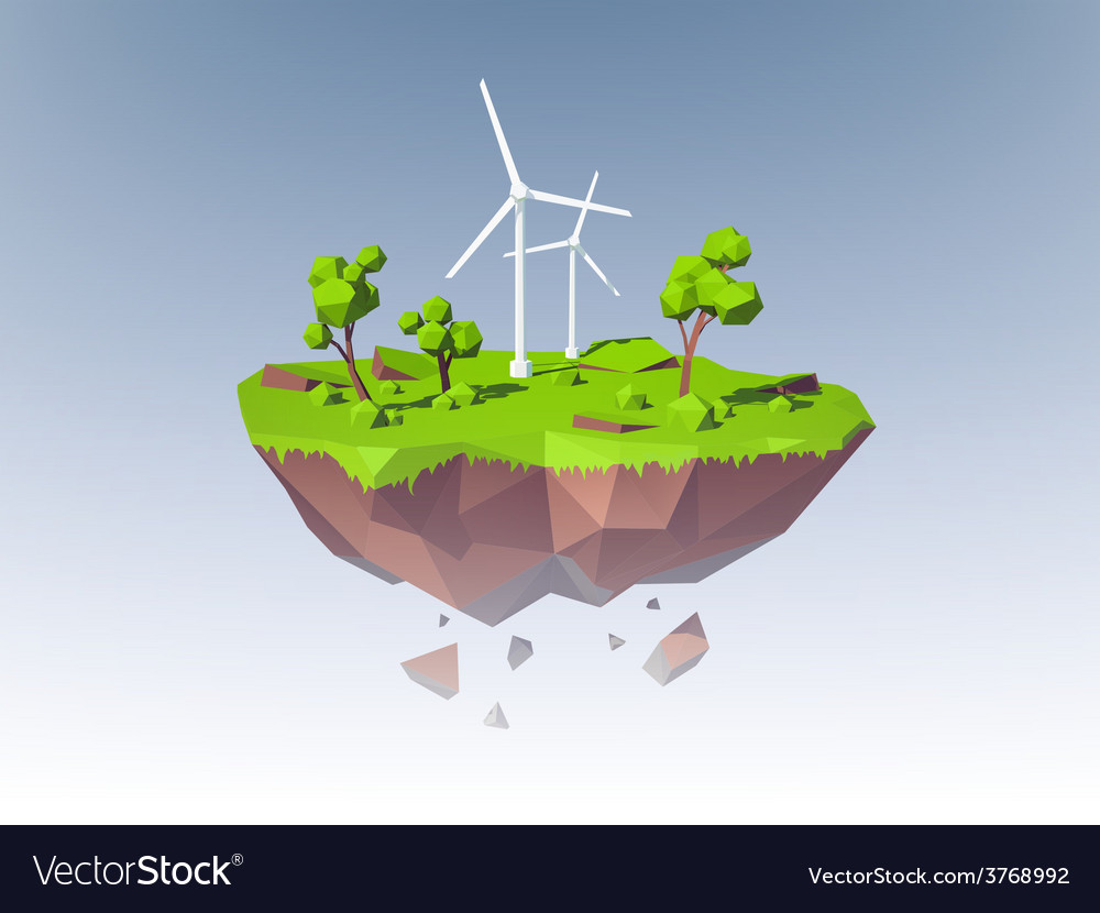 Ecology island concept vector | Price: 1 Credit (USD $1)