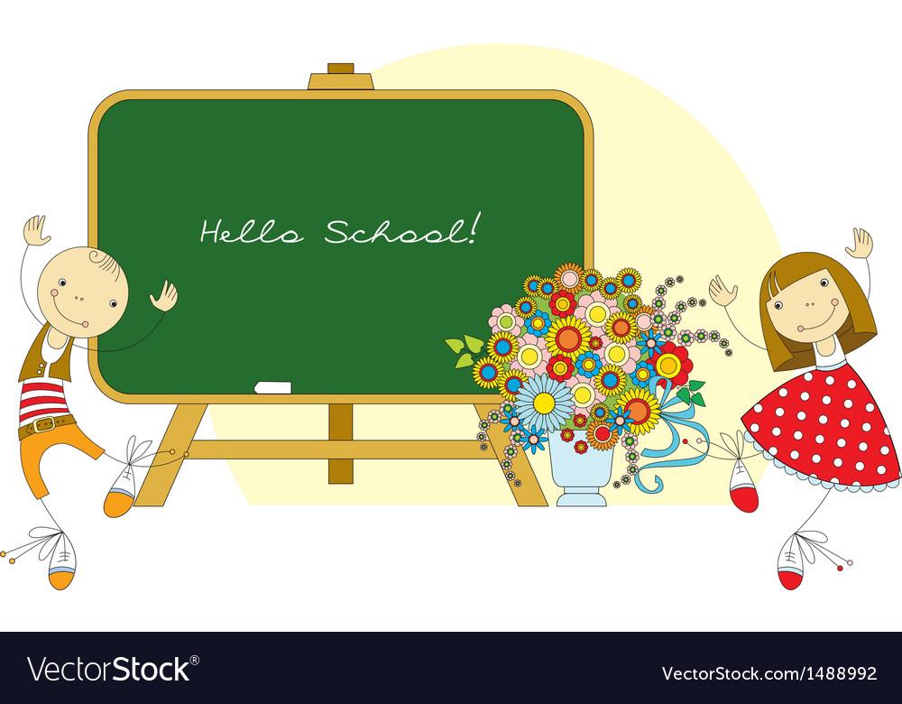 Hello school vector | Price: 1 Credit (USD $1)