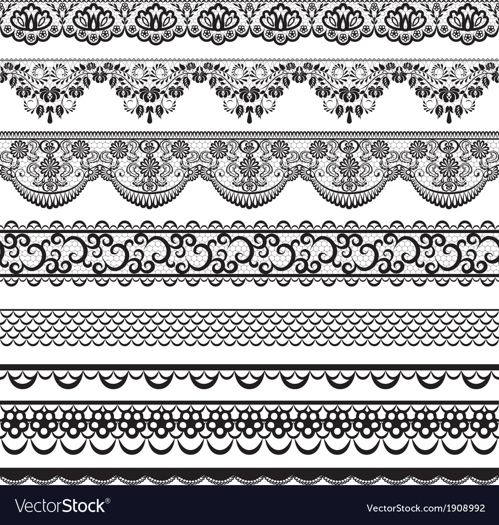 Lace border set vector | Price: 1 Credit (USD $1)