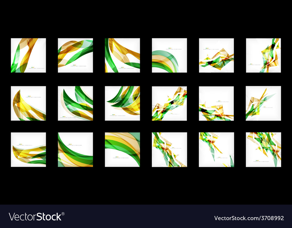Large set of abstract backgrounds vector | Price: 1 Credit (USD $1)