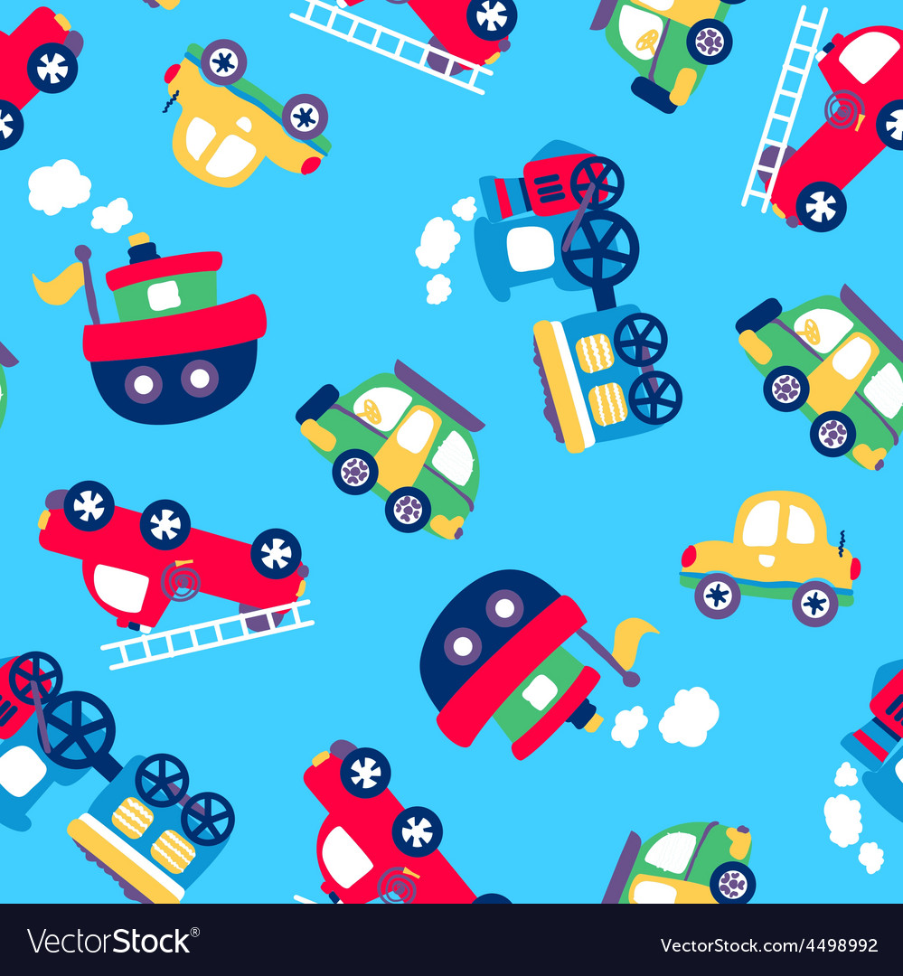 Little transport seamless pattern vector | Price: 1 Credit (USD $1)