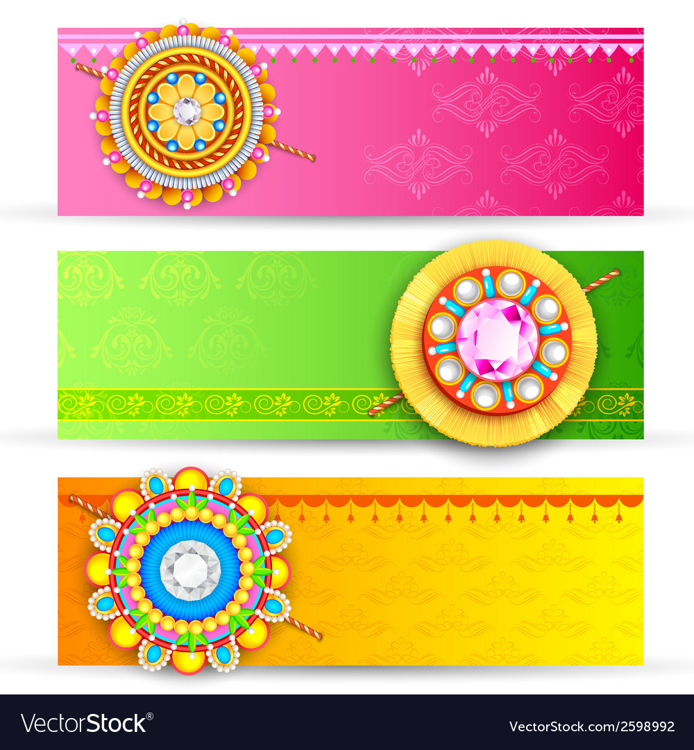 Raksha bandhan banner vector | Price: 1 Credit (USD $1)