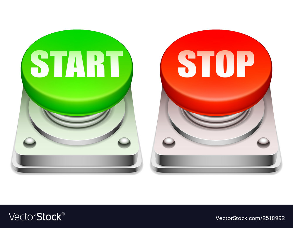 Red and green buttons vector | Price: 1 Credit (USD $1)