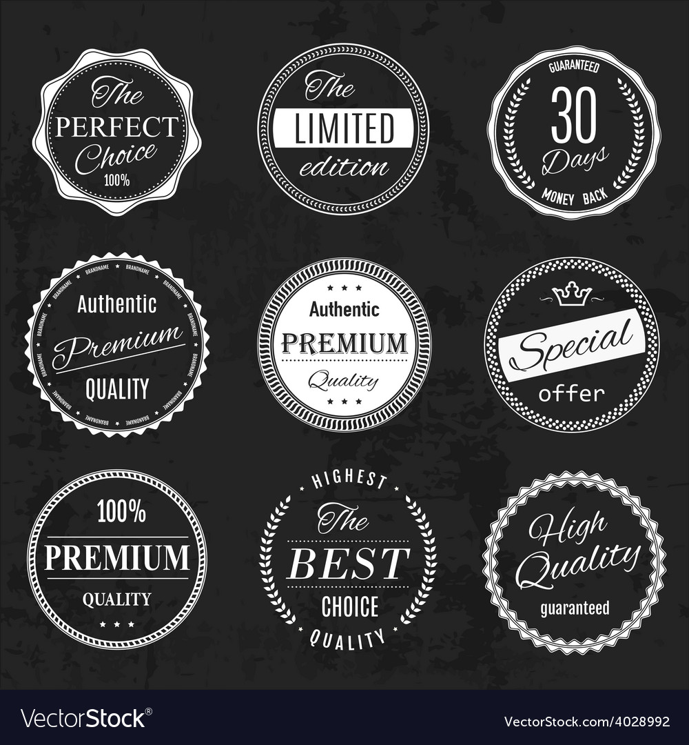 Set vintage retro coffee vector | Price: 1 Credit (USD $1)