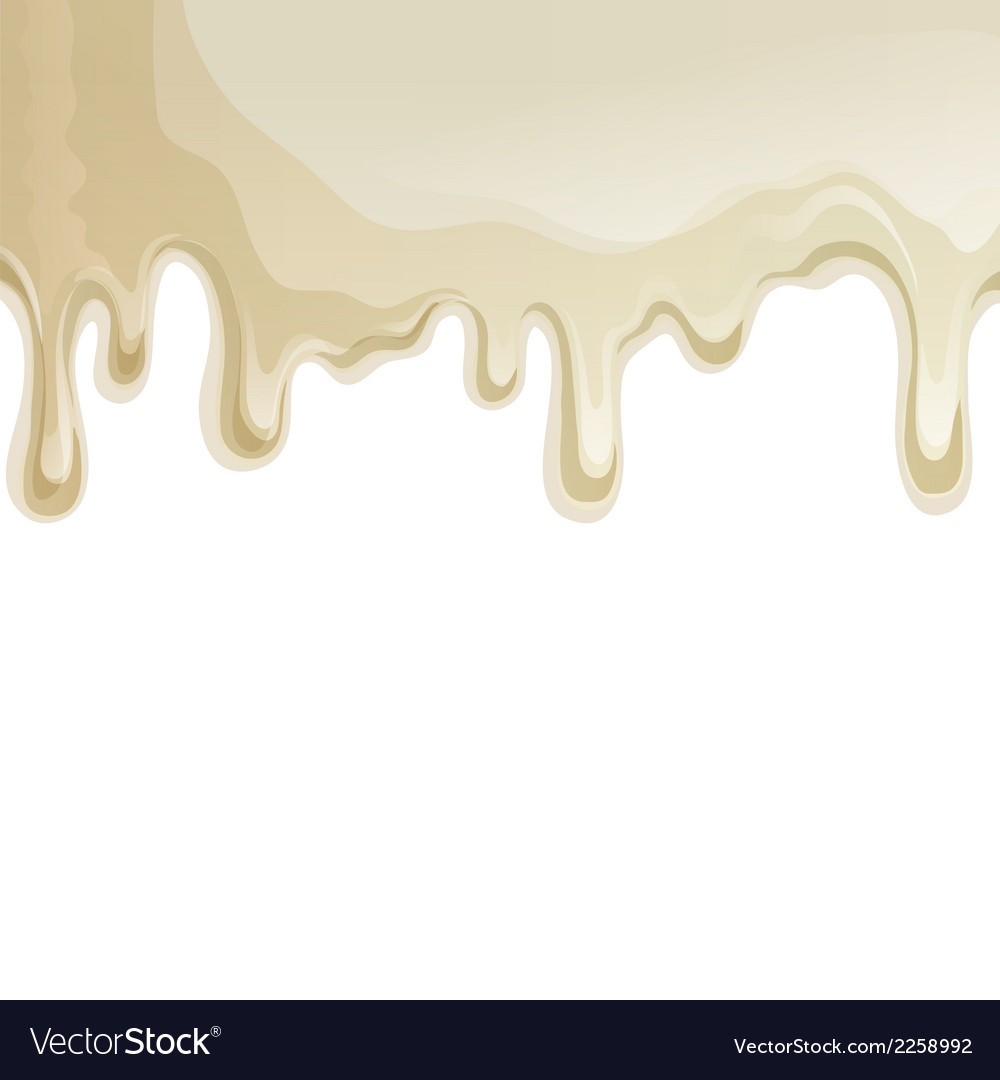 White chocolate drips background vector | Price: 1 Credit (USD $1)