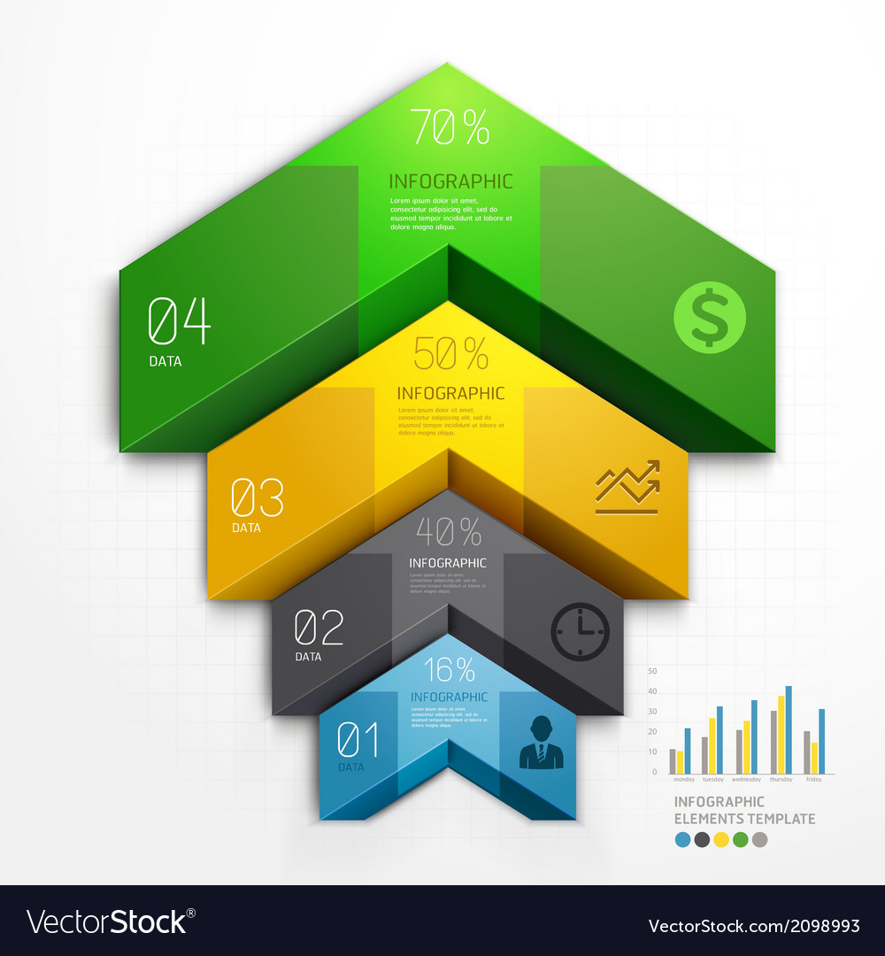 3d arrow infographics diagram business template vector | Price: 1 Credit (USD $1)