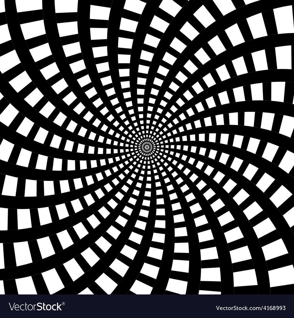 A black and white spiral optical vector | Price: 1 Credit (USD $1)