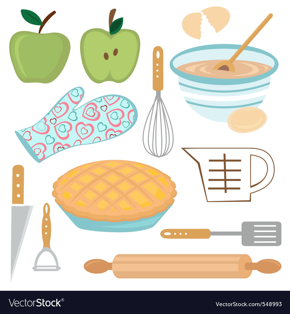 Apple pie preparation vector | Price: 1 Credit (USD $1)