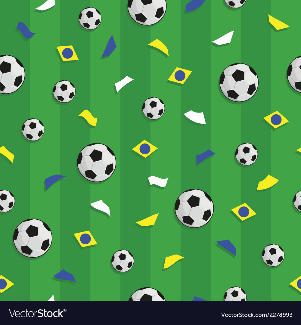 Brazil soccer pattern vector | Price: 1 Credit (USD $1)