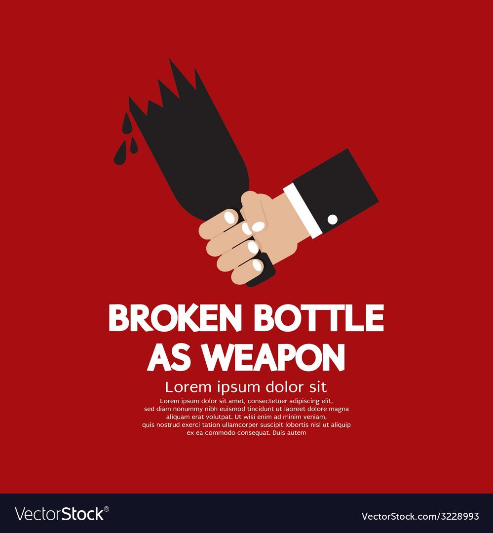 Broken bottle as weapon vector | Price: 1 Credit (USD $1)