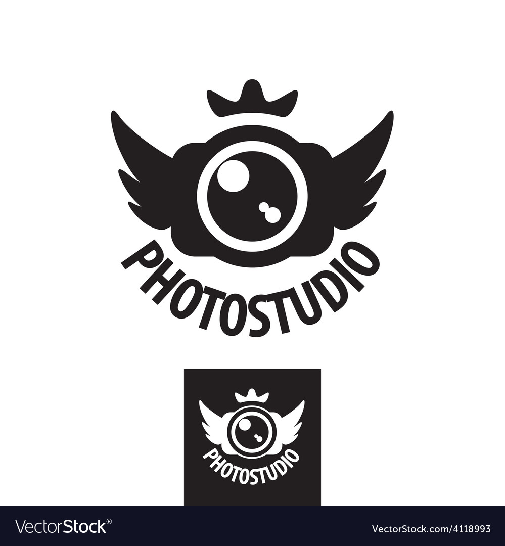Camera logo with crown and wings vector | Price: 1 Credit (USD $1)