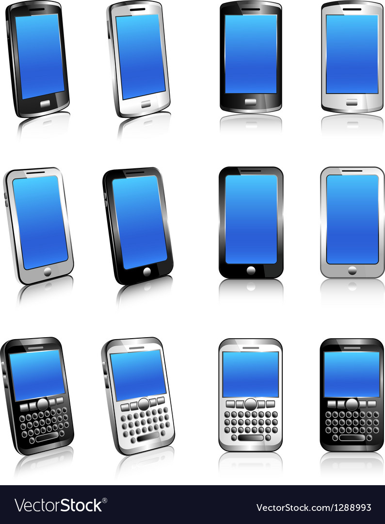 Cell phone mobile smart phone vector | Price: 1 Credit (USD $1)