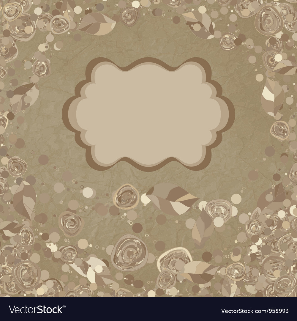 Floral background greeting card eps 8 vector | Price: 1 Credit (USD $1)