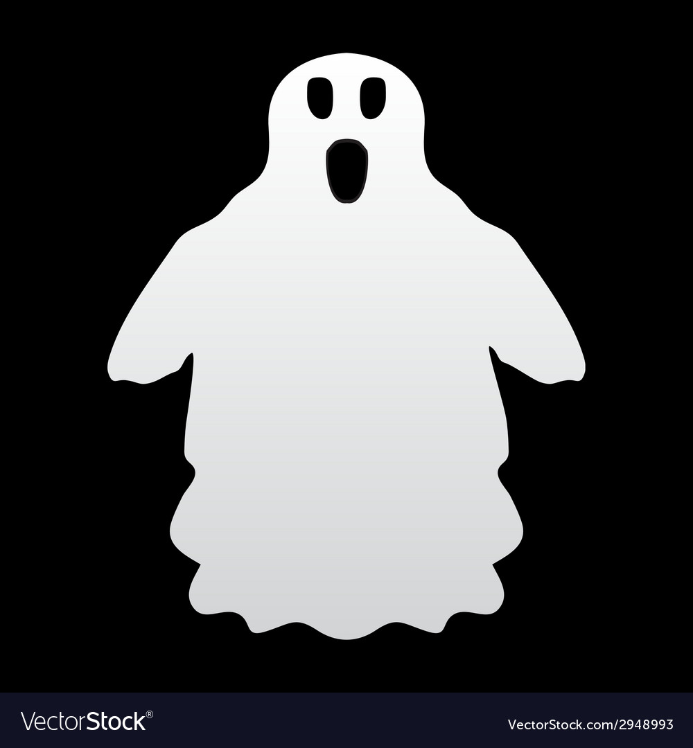 Ghost on a black background vector | Price: 1 Credit (USD $1)