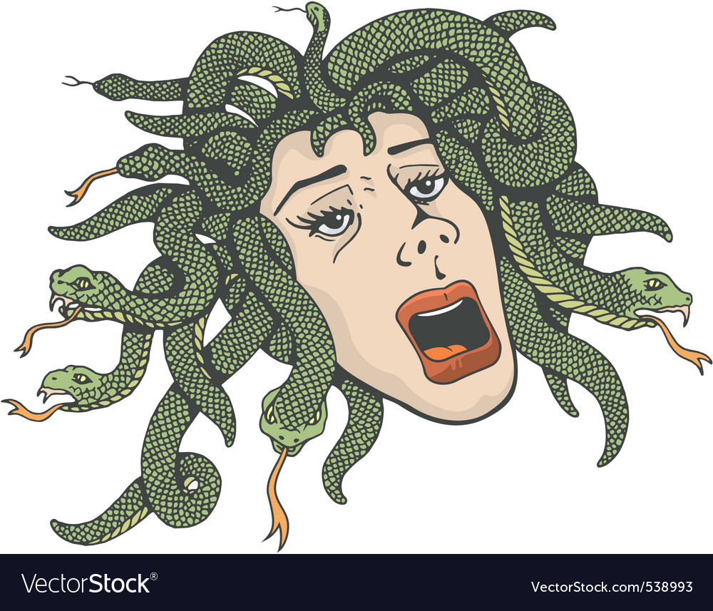 Head of medusa vector | Price: 3 Credit (USD $3)