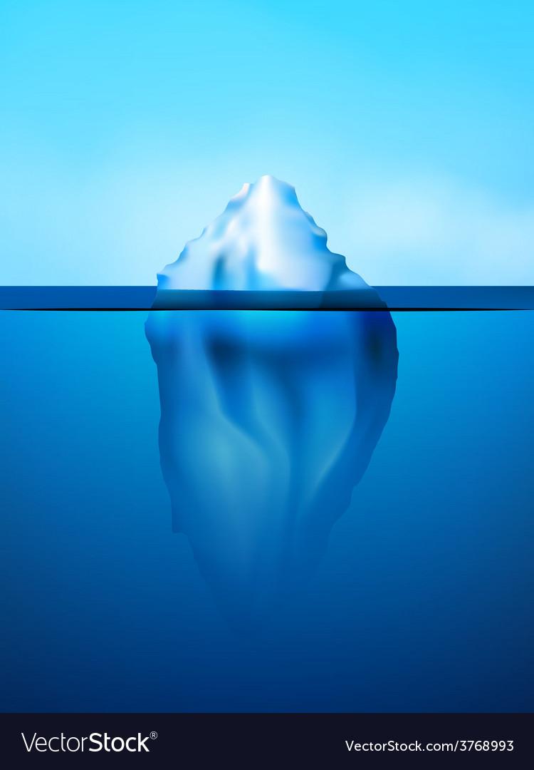 Iceberg background vector | Price: 1 Credit (USD $1)