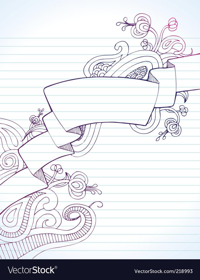 Notebook banner vector | Price: 1 Credit (USD $1)