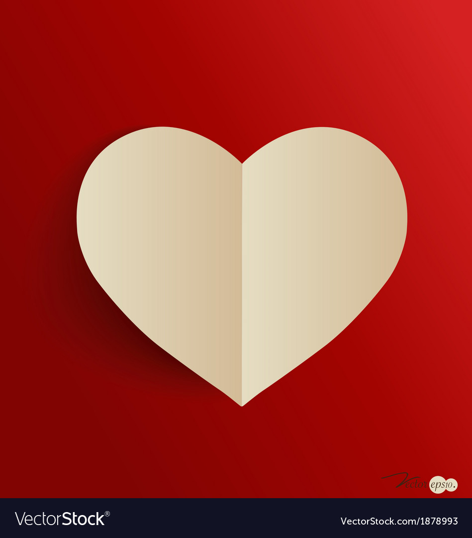 Paper heart shape symbol for valentines day with vector | Price: 1 Credit (USD $1)