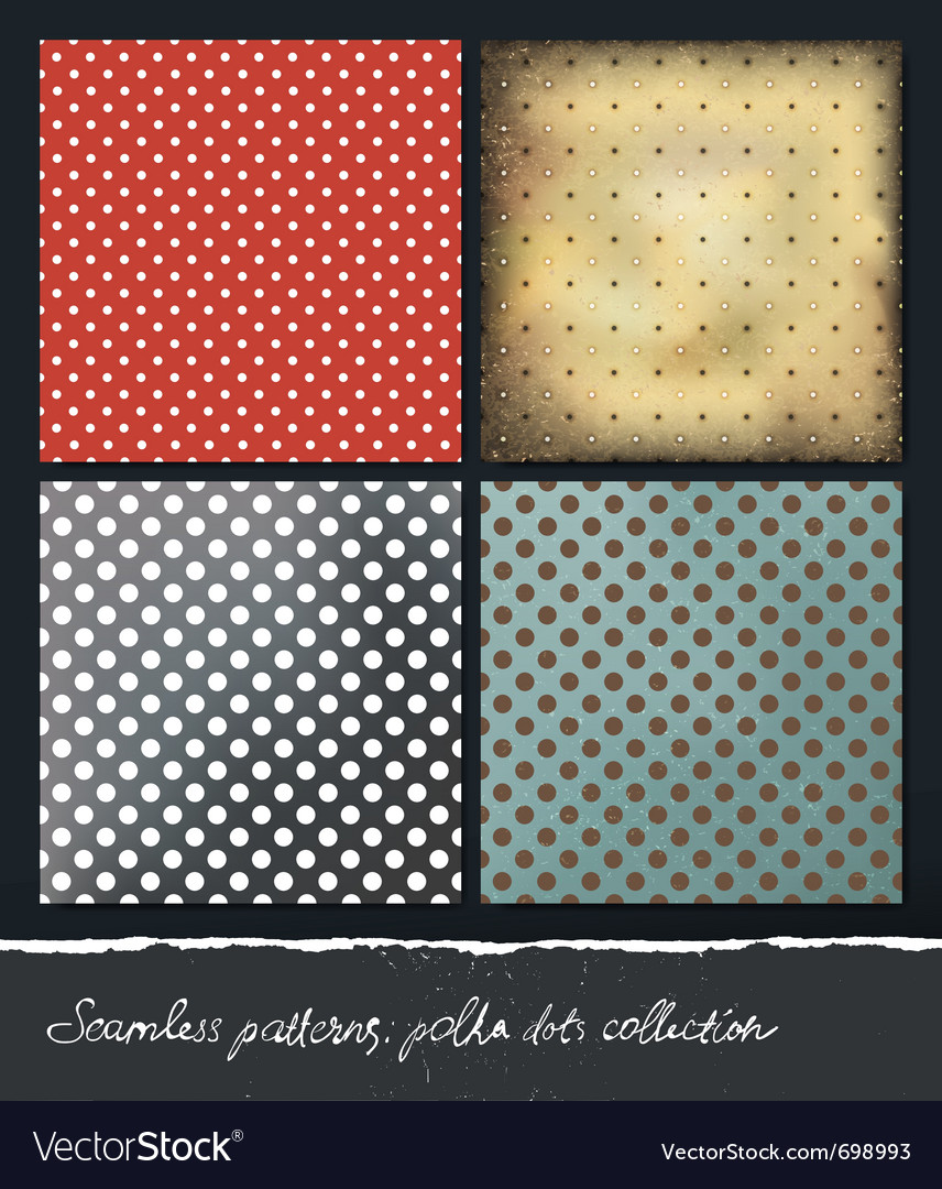 Polka dots backgrounds collection eps10 vector | Price: 1 Credit (USD $1)