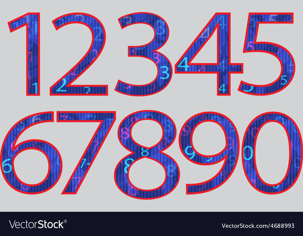 Set numbers vector   Price: 1 Credit (USD $1)