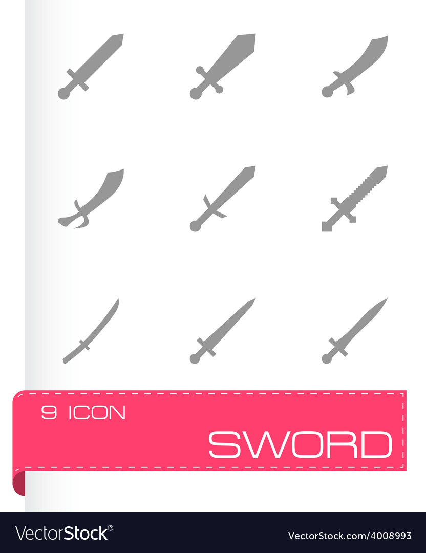 Sword icon set vector | Price: 1 Credit (USD $1)