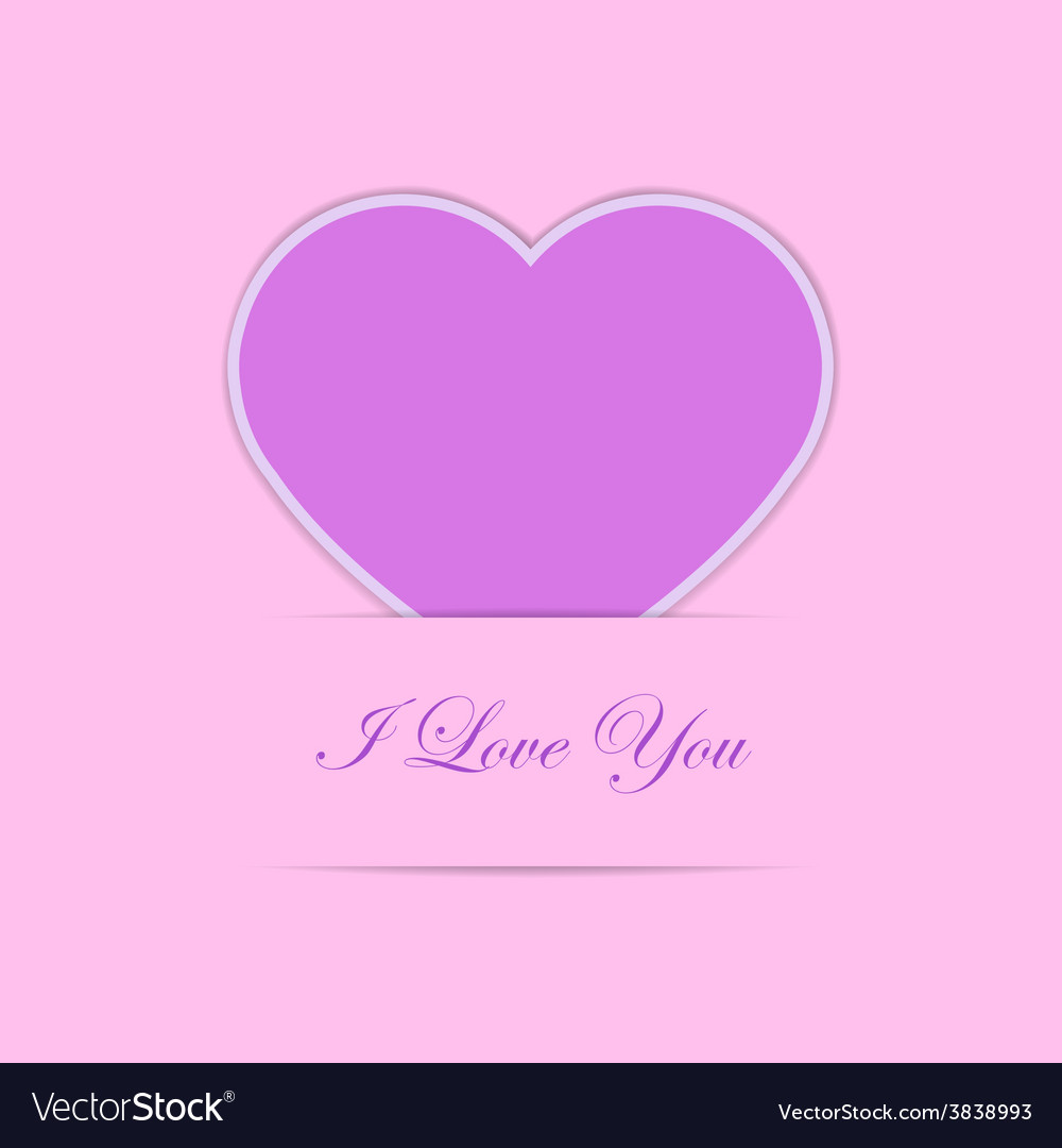 Valentine card with pink paper heart vector | Price: 1 Credit (USD $1)