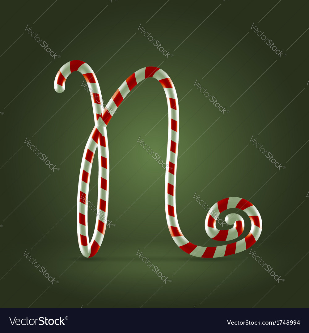 Candy cane abc n vector | Price:  Credit (USD $)