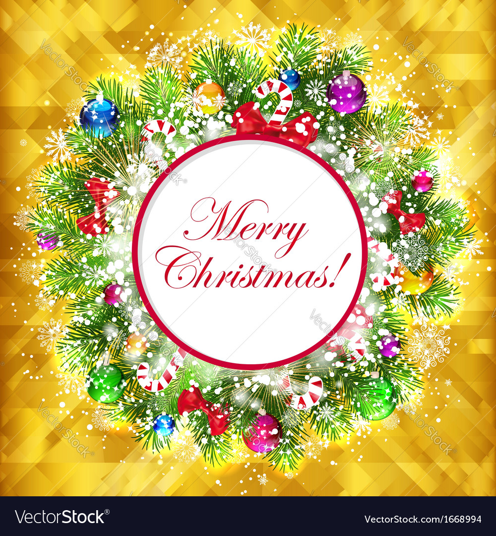 Christmas golden background and place for your vector | Price: 3 Credit (USD $3)