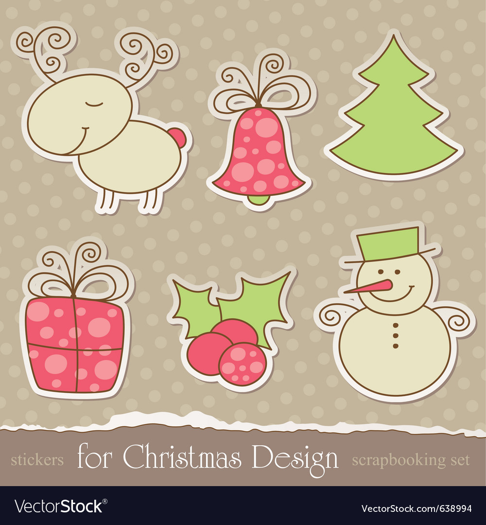 Christmas scrapbook elements vector | Price: 1 Credit (USD $1)
