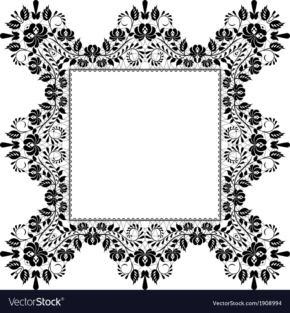 Lace quadratic frame vector | Price: 1 Credit (USD $1)