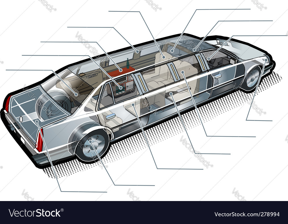 Limousine info graphics vector | Price: 5 Credit (USD $5)