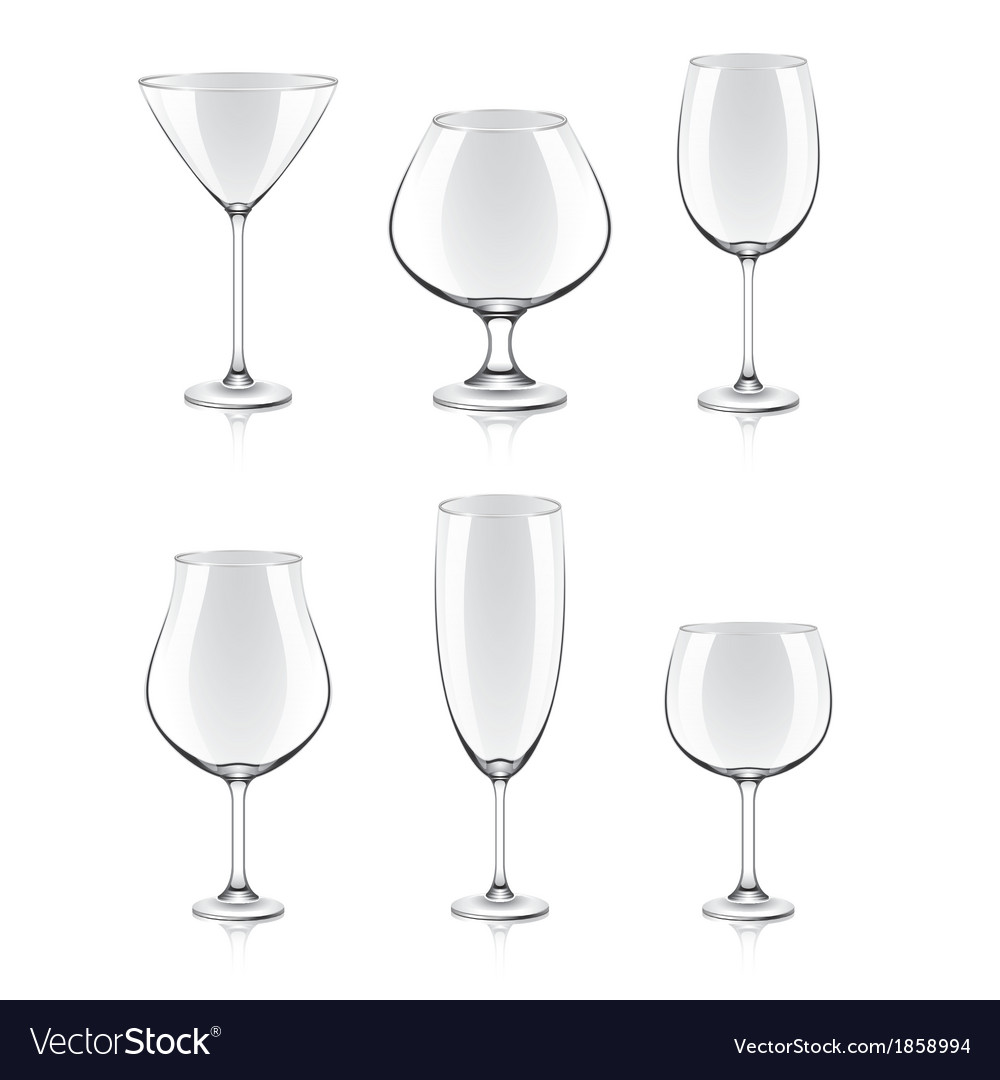 Object cocktail glasses vector | Price: 1 Credit (USD $1)