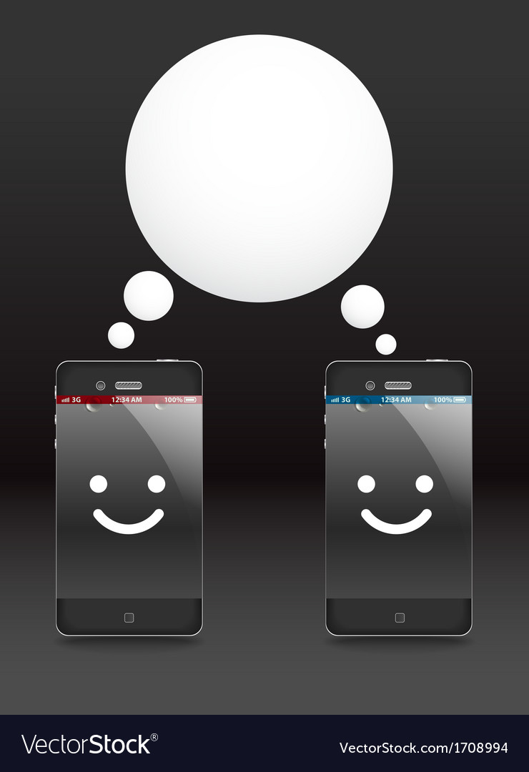 Smiling modern phones vector | Price: 1 Credit (USD $1)